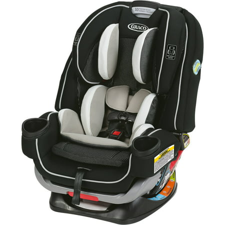 Graco 4Ever Extend2Fit 4-in-1 Convertible Car Seat, Clove White