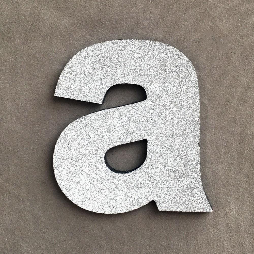 DIY Foam Letters Silver Alphabet Sticker Wedding Birthday Party Home Decorations