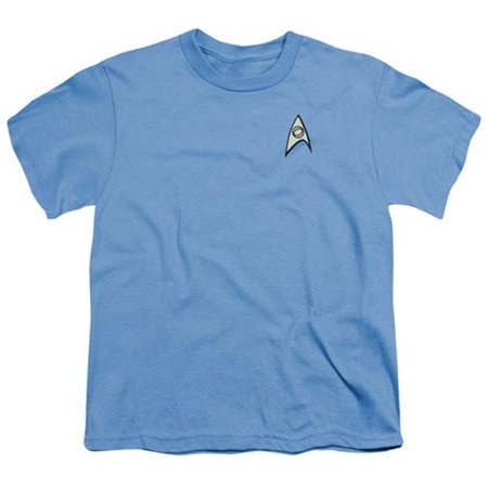 Star Trek-Science Uniform - Short Sleeve Youth 18-1 Tee - Carolina Blue, Medium - image 1 de 1