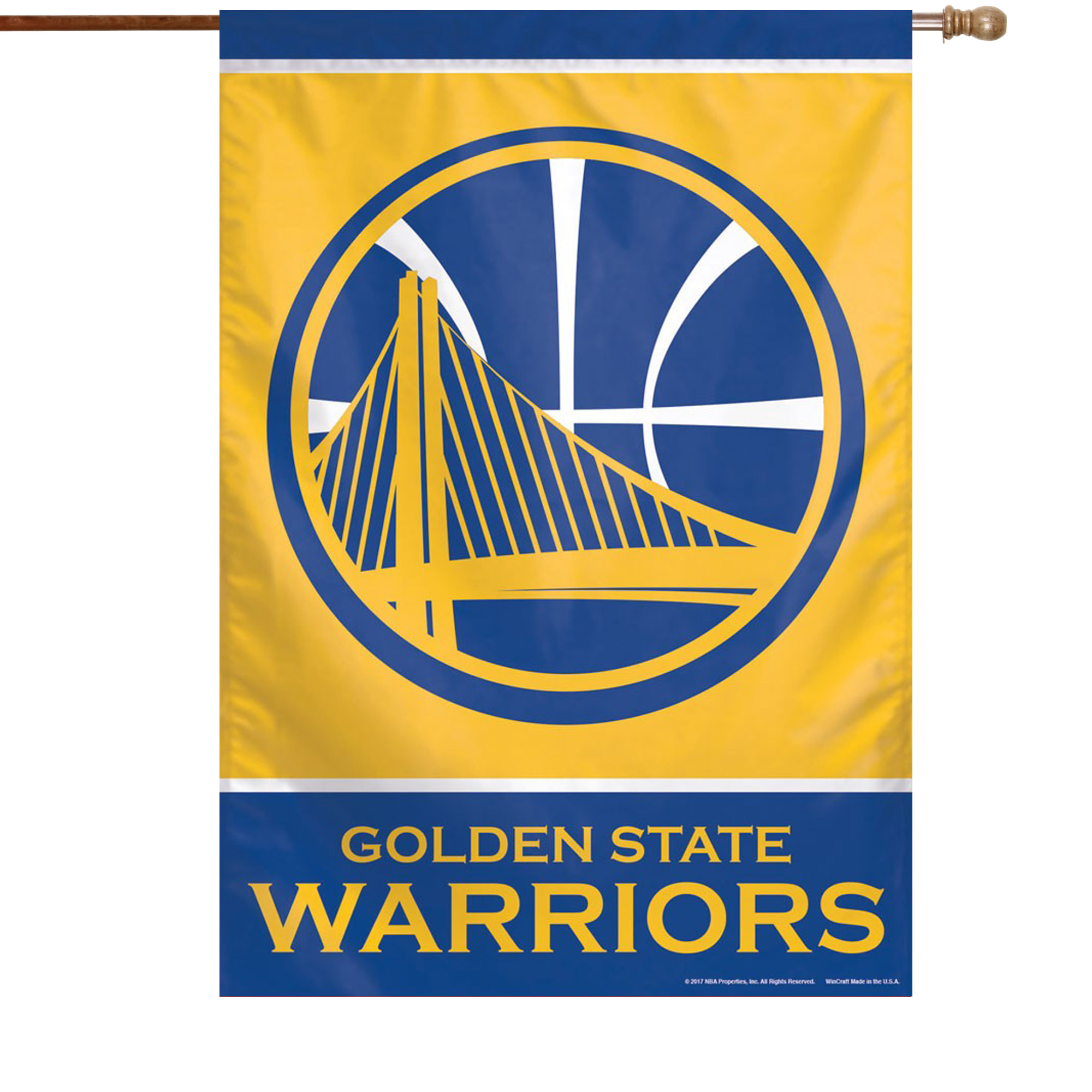 """Golden State Warriors WinCraft 28"""" x 40"""" Primary Logo Single-Sided Vertical Banner - No Size"""