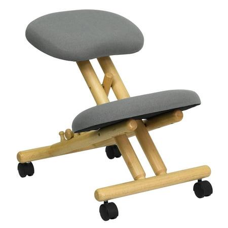 Wooden Ergonomic Kneeling Posture Office Chair,