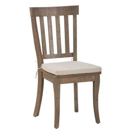 Reclaimed Heart Pine - Bowery Hill Slatback Dining Chair in Reclaimed Pine (Set of 2)