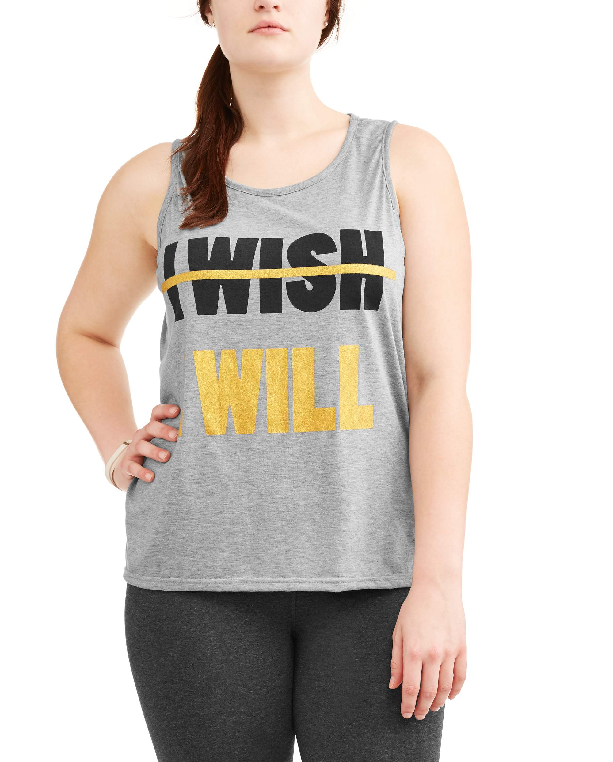 Women's Plus 'I Wish I Will' Graphic Tank