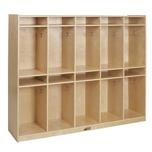 ECR4Kids Birch 2 Tier 5 Wide Storage Locker