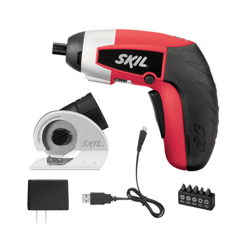 SKIL 4V Max Lithium-Ion iXO Screwdriver Kit with Cutter Attachment and 5pc Bit Set
