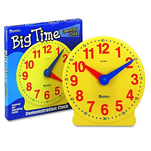 Learning Resources Big Time Learning Clock, 12 Hour - image 5 of 5