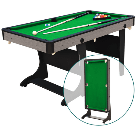 Prime Airzone 5 Folding Billiard Table Green Felt Cues Balls And Accessories Included Home Interior And Landscaping Spoatsignezvosmurscom