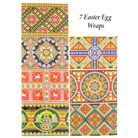 Set of 7 Hutcul Ukrainian Style Easter Egg - Ukrainian Easter Egg Patterns