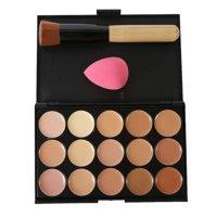 Product Image Big Saving/Clearance,15 Colors Face Concealer Contour Palette +Makeup Brush Sponge