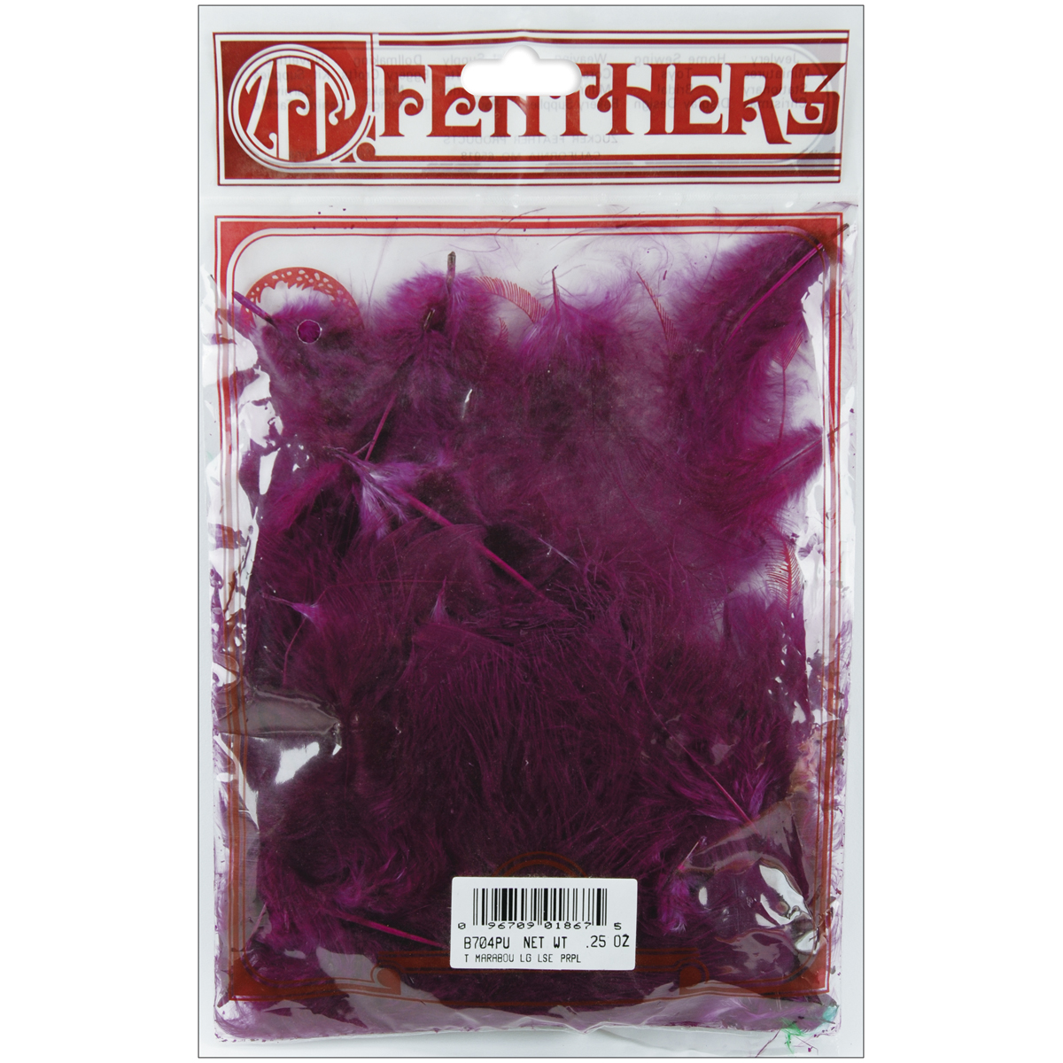 Marabou Feathers .25oz-Purple