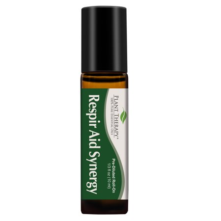 Plant Therapy Respir Aid Essential Oil | Sinus and Congestion Clearing Synergy Blend | Pure, Pre-Diluted Roll-On 10 mL