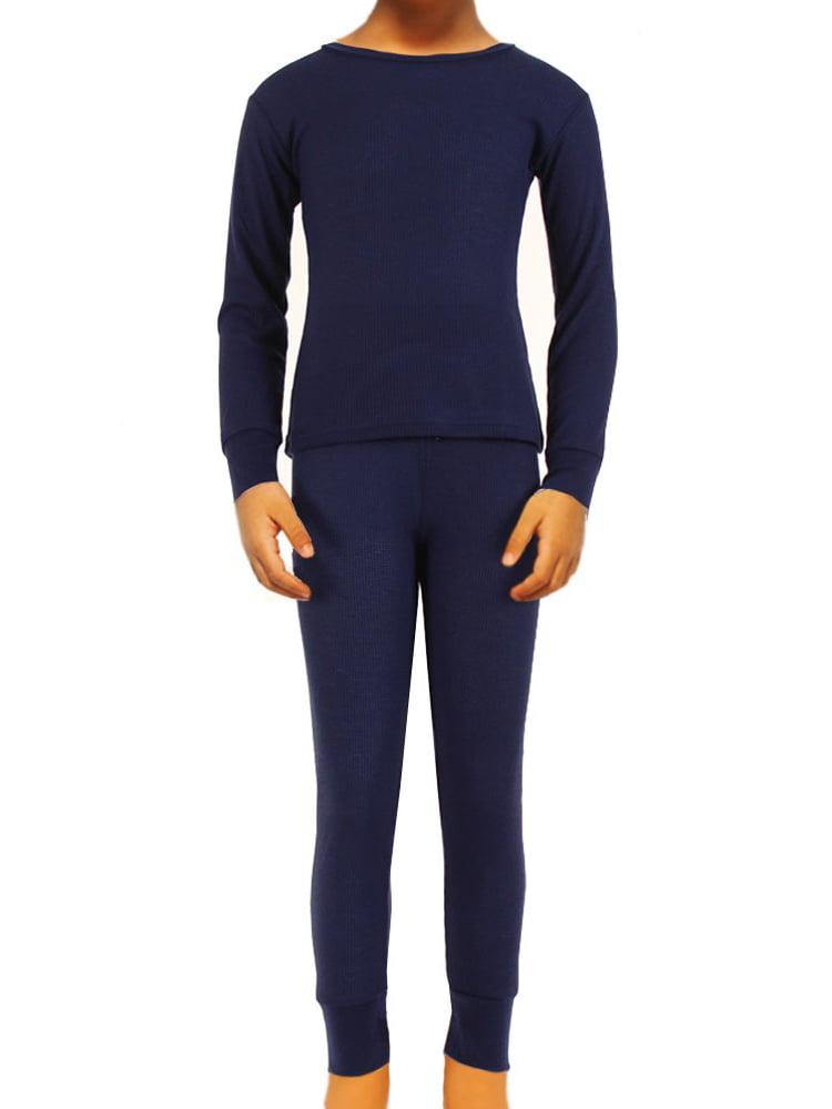 SLM Therma Tek Boy's 100% Cotton Thermal Underwear Two Piece Set