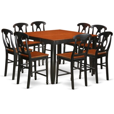 Fake9h blk w 9 piece counter height pub set pub table and for 9 piece dining room set counter height