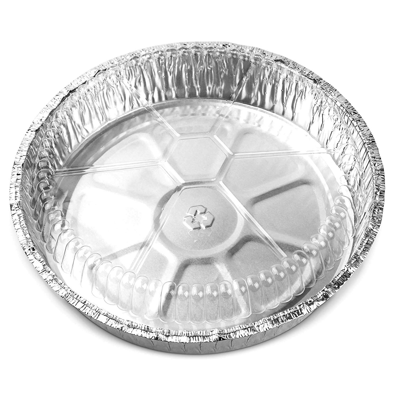 """46oz Aluminum//Foil 9/"""" Round Baking Pan//Take Out Containers with Clear Dome Lids"""