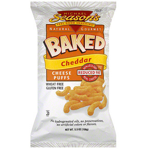 ***Discontinued by Kehe 06.10***Michael Season's Baked Cheese Puffs, 5.5 oz (Pack of 12)