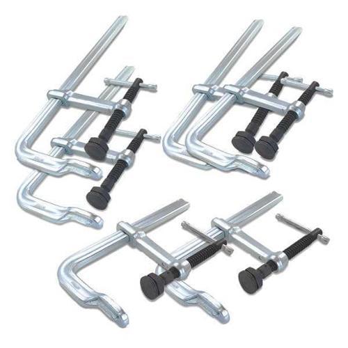 Bessey Bar Clamp Set, F-Style Sliding Arm, CLSXHD-SET