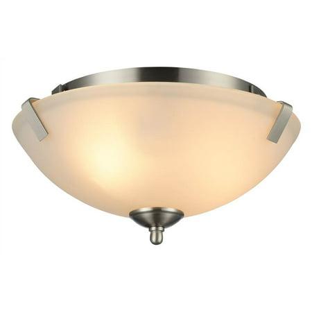 - CHLOE Lighting GURLI Transitional 2 Light Brushed Nickel Ceiling Fixture 14