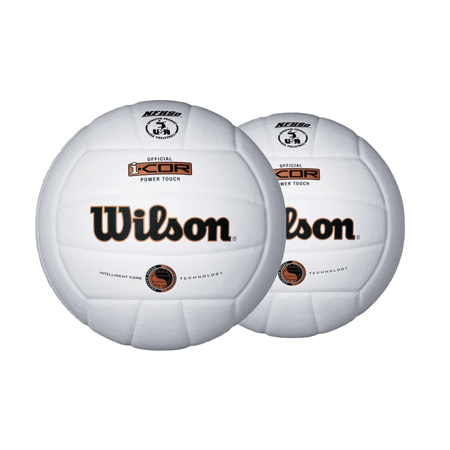 Wilson i-Cor High Performance Volleyball (2-Pack), White - I Love Volleyball