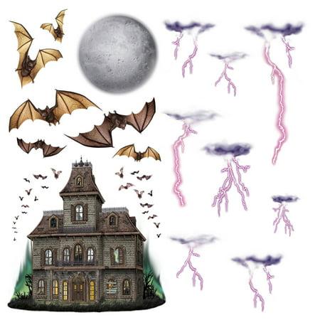 Halloween Haunted House & Night Sky Props 7in.-40in.,16/Pkg, Pkg/6 (Halloween Sky)