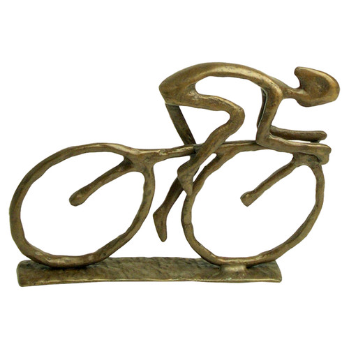 Danya B ZD480 5-1/2 Inch Tall Cyclist Figurine Hand Crafted Metal Sculpture