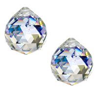 Reactionnx 50mm Pack of 2 Clear Large Crystal Glass Ball Prism Rainbow Maker Hanging Pendant Suncatcher for Window