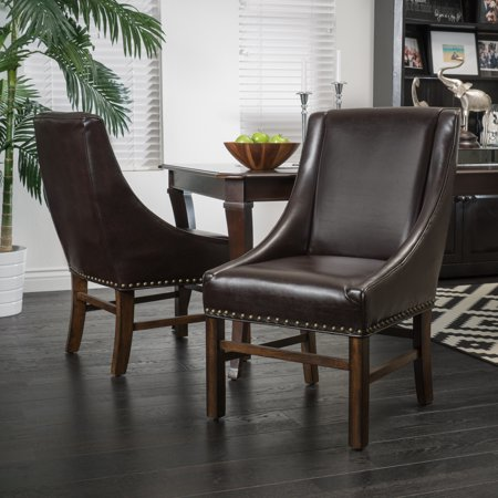 Devonne Bonded Leather Dining Chair Set of 2