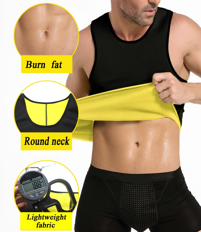639bef4963cba NINGMI - NINGMI Mens Slimming Sauna Shirt Sweat Vest Neoprene Body Shaper  Tank Top Weight Loss No Zipper - Walmart.com
