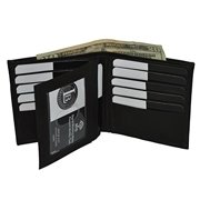 RFID Bloacking Men's Hipster Wallet with Middle Flap by Leatherboss