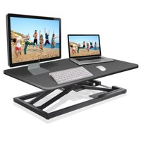 PYLE PDRIS08 - Standing Computer Desk / Monitor Desk - Height Adjustable Desktop Table Work Station
