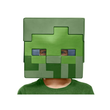 Minecraft Zombie Child Half Mask](Party City Zombie Mask)