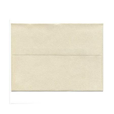 JAM Paper A9 Invitation Envelope, 5 3/4 x 8 3/4, Opal/Ivory Stardream Metallic, 25/pack