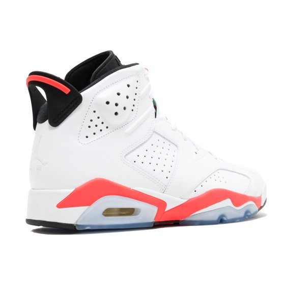 best sneakers bad7b 26670 Nike - Nike Mens Air Jordan 6 Retro White Infrared-Black 384664-123 -  Walmart.com