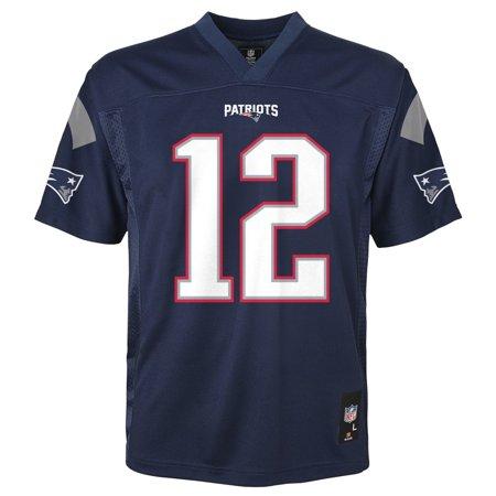 Custom Replica Away Jersey - Tom Brady New England Patriots Youth NFL Mid Tier Replica Jersey