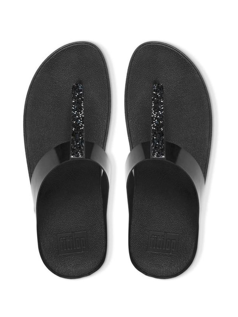FitFlop Fino Toe Post Womens Black Sandals