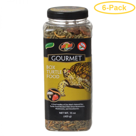 Zoo Med Gourmet Box Turtle Food 15 oz - Pack of 6 (Med Sonnenbrille)