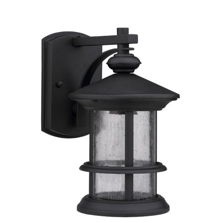 1 Transitional Bathroom Light (CHLOE Lighting ASHLEY SUPERIORA Transitional 1 Light Textured Black Outdoor Wall Sconce )