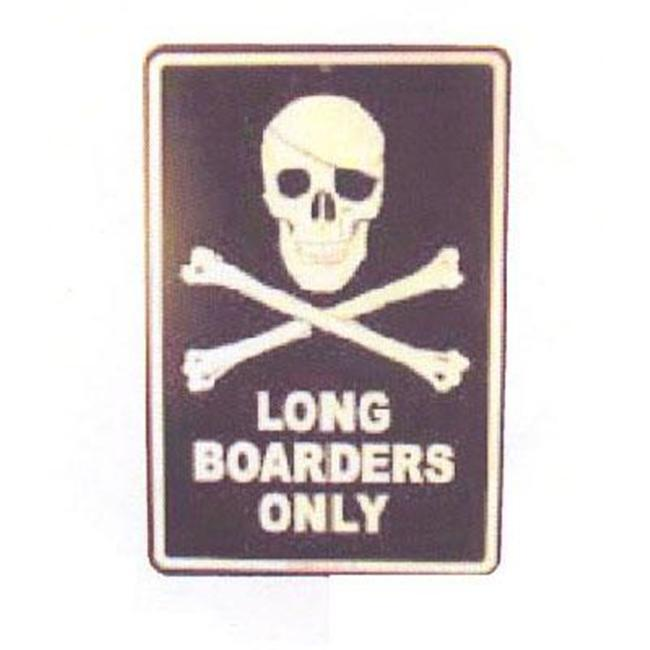 Seaweed Surf Co SF41 12X18 Aluminum Sign Long Boarders Only