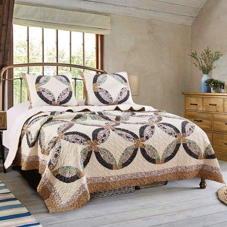 Sweet Caroline Wedding Quilt by Greenland Home Fashions ()