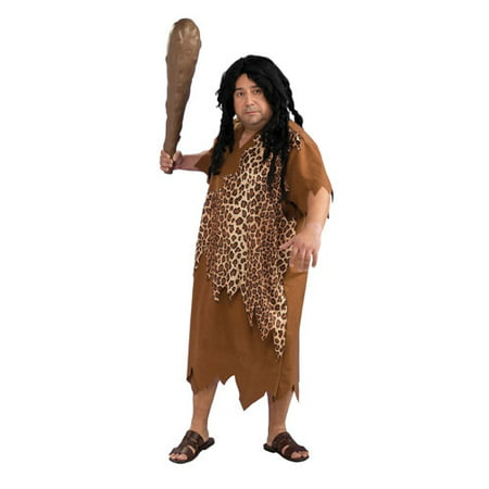 Mens Plus Size Caveman Halloween Costume 46-52 (Caveman Makeup Halloween)