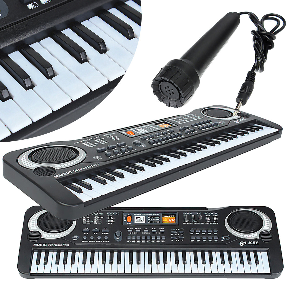 Kid's Children 61 Keys Small Music Electronic Digital Keyboard Key Electric Piano Organ Board Electric Organ Piano Toys Gift