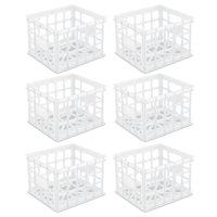 Sterilite, Storage Crate, White, Case of 6