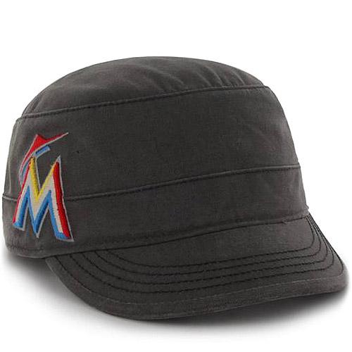 Miami Marlins '47 Women's Honey Creek Military Adjustable Hat - Black - OSFA