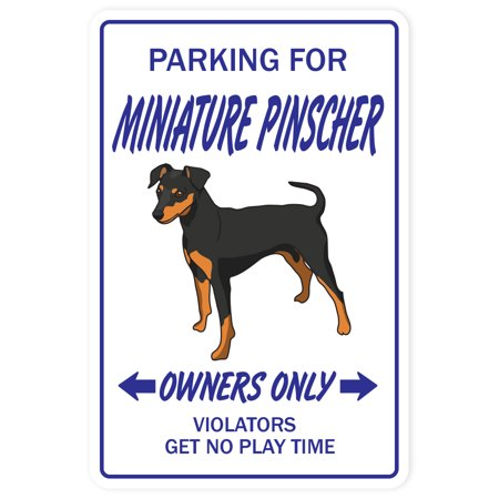 Miniature Pinscher novelty sticker | Indoor/Outdoor | Funny Home Décor for Garages, Living Rooms, Bedroom, Offices | SignMission Dog Pet Parking Gift Min-Pin Pet Animal Lover Wall Plaque