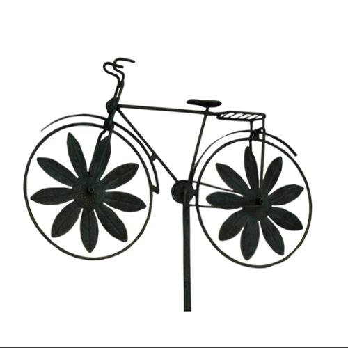 Retro Bicycle Metal Windmill Garden Stake