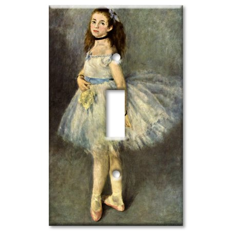 Art Plates brand - Single Gang Toggle Wall Plate - Renoir: - Ballerina Single