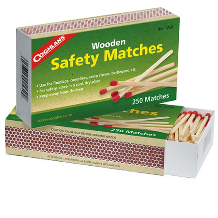 Coghlans Wooden Safety Matches - Matchboxes Bulk