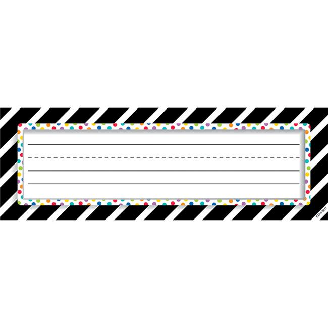 Bold Stripes & Dots Nameplates by Classroom Creations