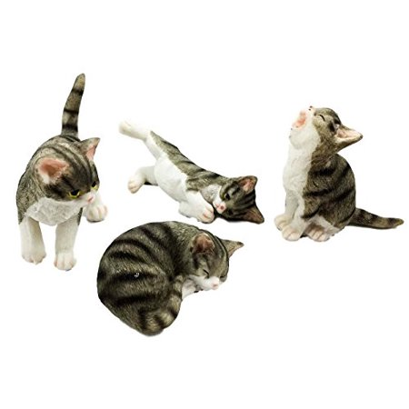 Crazy For Cats Four Playful Feline Kittens Adorable Kitty Cat Figurine - Hello Kitty Halloween Figurines