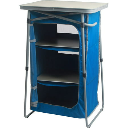 Ozark trail 3 shelf collapsible cabinet for Portable book shelves