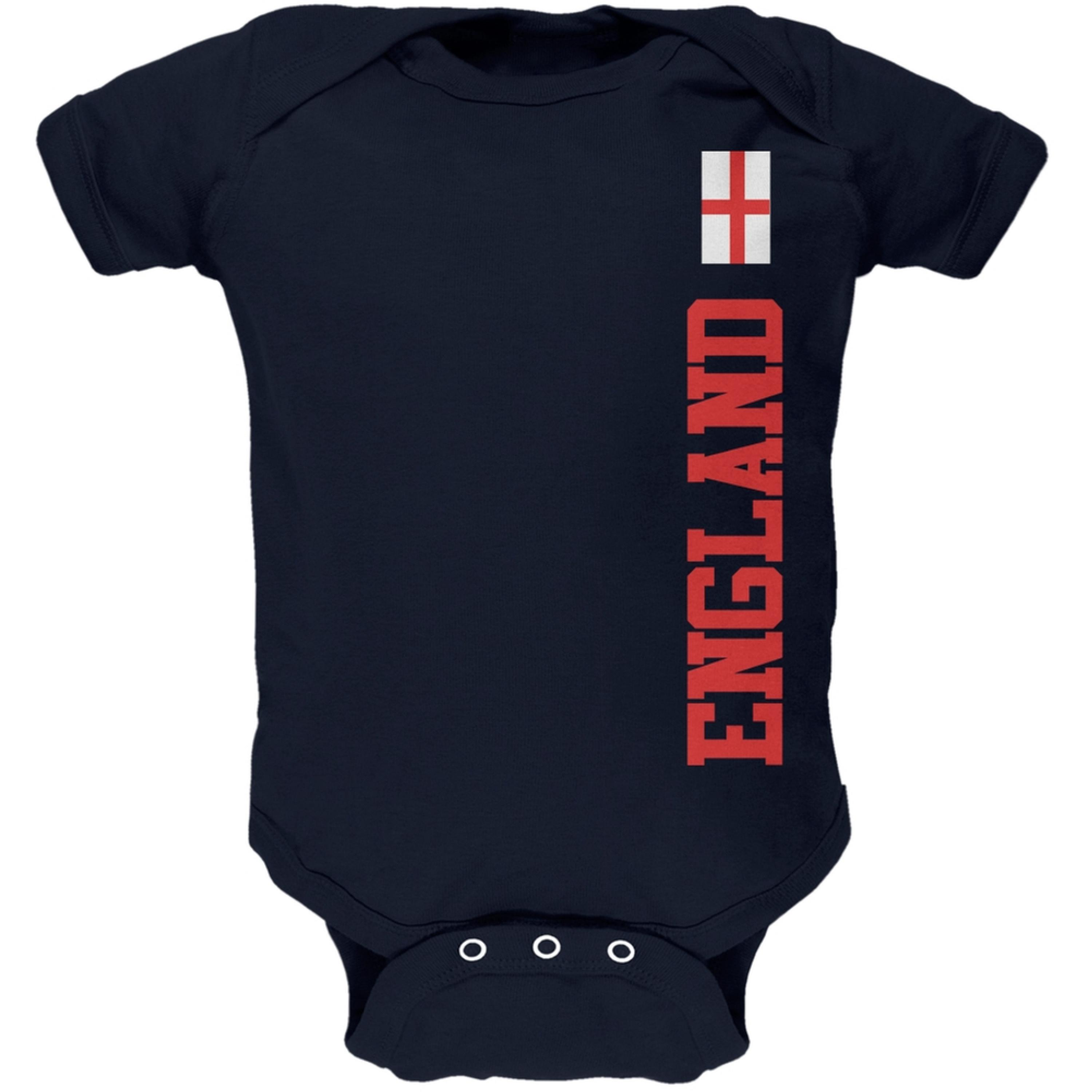World Cup England Navy Baby One Piece